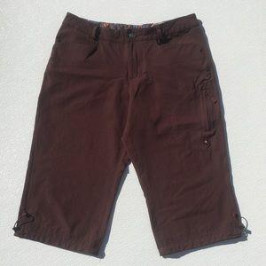 "ISIS Long Shorts Brown Nylon 10 16"" Waist NICE!"